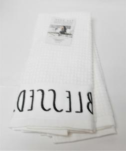 "Rae Dunn Set of 2 Kitchen Towels ""GRATEFUL. BLESSED."" Large"