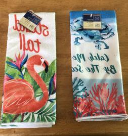 "Set of 2 Home Collection Kitchen Towels ""Let the Sand Be You"