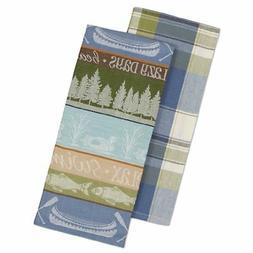 Kitchen Towels Rustic Plaid Cabin Lodge Set ~ New