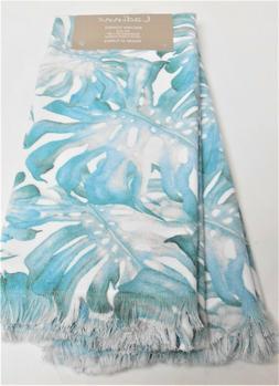 Ladinne Set of 2 Kitchen Towels Turkish Cotton Turquoise Pal