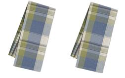 Set of 2 Lake House Plaid Kitchen Towels by DII Blue, Green,
