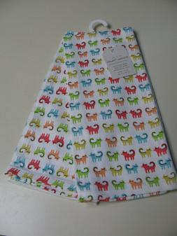 Set of 2 Kitchen Towels - Multi-colored Cats - NWT