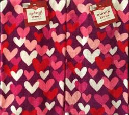 Set Of 2 Pink White Red Hearts Valentine Love Home Kitchen D