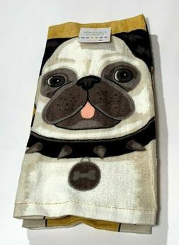 Ritz Set of 2 Pug Dog Gone It Kitchen Towels NEW