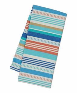 Design Imports SEASHORE STRIPE Cotton Kitchen Dish Towels