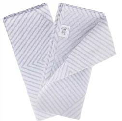 Set Of 2 Simply Whimsical Tea Hand Kitchen Towels Gray White