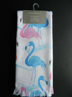 Ladinne Set of 2  Kitchen Towels 100% Turkish Cotton Flaming