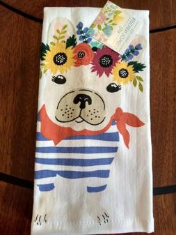 Ritz Set of 2 White Kitchen Hand Towels - Adorable French Bu