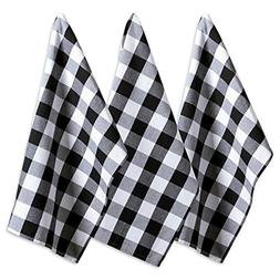 "DII Cotton Buffalo Check Plaid Dish Towels, 20x30"" Set of 3,"