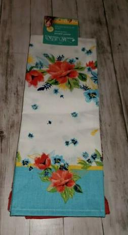 Set of 4 Cotton Floral Kitchen Towels Table Kitchen Decor Th