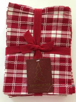 Set of 5 Plaid Kitchen Designer Towels - Farmhouse & One Hol
