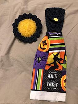 Free ship to USA - 3 piece set - Halloween Trick or Treat -