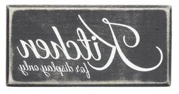 Primitives by Kathy Box Sign, 6 by 3-Inch, Kitchen for Displ