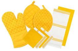 silicone printed oven mitt pot