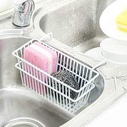 Sink Sponge Drain Rack Iron Storage Basket Kitchen Office Or