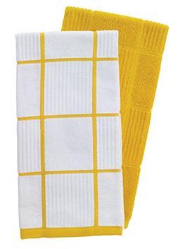 T-Fal Textiles 60943 2-Pack Solid & Check Parquet Design 100