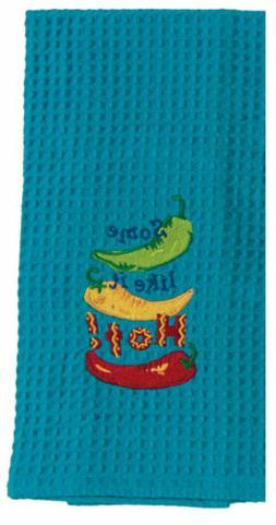 Some Like it HOT! SOUTHWEST Embroidered TURQUOISE Waffle KIT