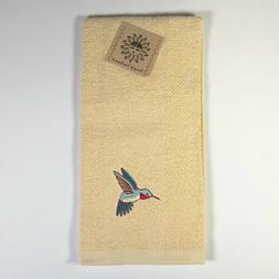 Southwest Embroidered Hummingbird on Pale Yellow Kitchen Ter