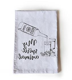 Amore Beaute My Spirit Animal Cotton Tea Towel   Wine Quote