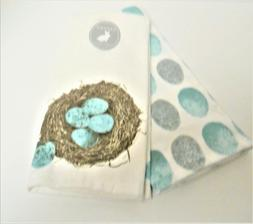 Casaba Spring Set of 2 Kitchen Dish Tea Towels Bird's Nest W