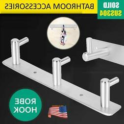 Stainless Steel Clothes Hooks Towel Robe Holder Rack Kitchen