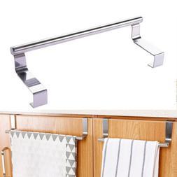 Over Door Towel Hook Rack Bar Kitchen Cabinet Storage Shelf