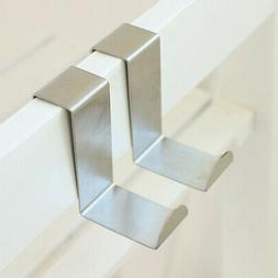 Stainless Steel Over The Cabinet Door Hook Kitchen Single To
