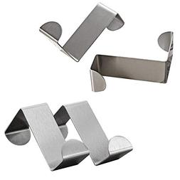 Mziart Pack of 4 Stainless Steel Reversible Over Door Cabine