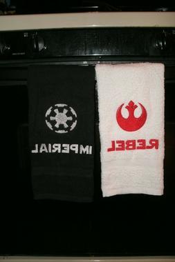 star wars logos rebel imperial personalized dish