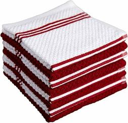 Sticky Toffee Cotton Terry Kitchen Dishcloth, 8 Pack, 12 in