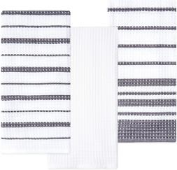 Sticky Toffee Cotton Waffle Weave Kitchen Dish Towels, 3 Pac