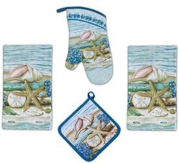 4 Piece Stories of the Sea Kitchen Set / Bundle - 2 Terry To