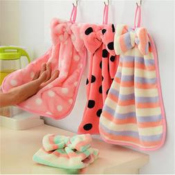 Striped Dot Microfiber Glass Dish Beatch Hand <font><b>Towel