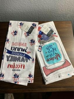 Mainstays Summertime/Patriotic Set of 2 Flour Sack Kitchen T