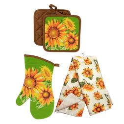 sunflower printed kitchen linens kitchen towel oven
