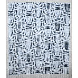 Swedish Dishcloth - Circle Dots Blue