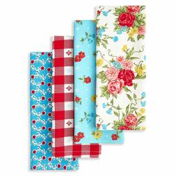 The Pioneer Woman Sweet Rose  Kitchen Towels Set of 4pc   NW