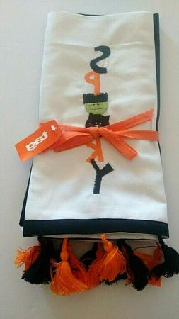 TAG Set 2 Halloween Embroidered Spooky Boo Kitchen Guest Tow