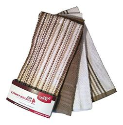 Better Homes and Gardens Tan & White Kitchen Towels - Set of