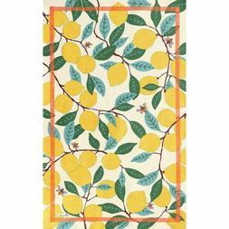 BEAUVILLE Tea Dish Kitchen Towel FRENCH Citrus Fruit Lemon T