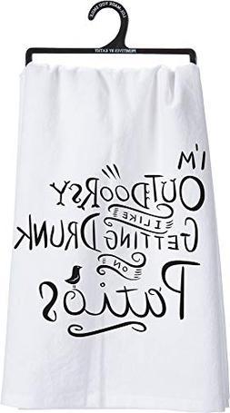 Primitives by Kathy 'Outdoorsy' Tea Towel - White