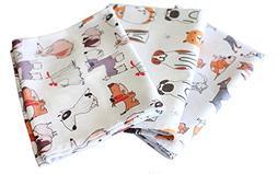 Sunshine Vibes SET OF 3 tea towels 100% cotton dog lover pat