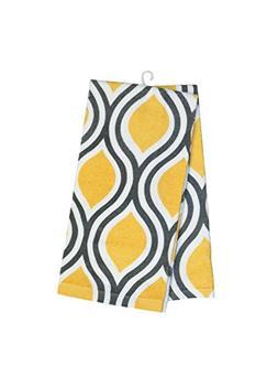 Hotel Tear Kitchen Towel , Yellow/Grey ...
