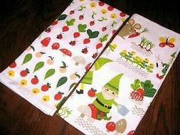 Now Designs Teatowels, Set of Two, Gnome Sweet Gnome Prnt