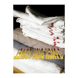 IKEA TEKLA Kitchen Dish Towel OFF- White Red 5 pack Free shi