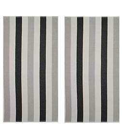 COTTON CRAFT - Terry Beach Towel 30x60-2 Pack - Cabana Strip