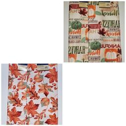 Thanksgiving Autumn Harvest Fall Leaves Kitchen Dish Towels