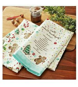The Pioneer Woman GINGERBREAD COOKIES Kitchen Towels Bar Tow