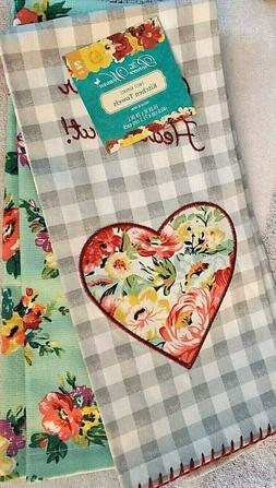 The Pioneer Woman Home Sweet Home Towels 2 pc Kitchen Set Ne