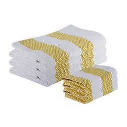 The Weaver's Blend Set of 3 Kitchen Towels and 3 Dish  nice